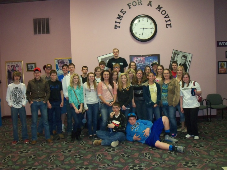 The group of FFA students after the long 2 hour movie.