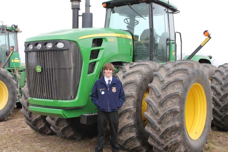 Cody Yarick and his 9430 John Deere.