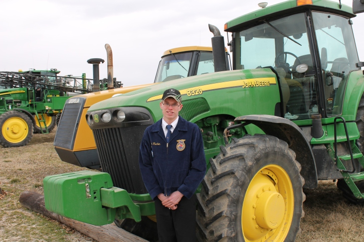 Hagen Fischer with his 8320 John Deere.