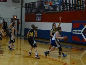 Kylann goes for the basket