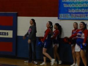Allie is a cheerleader??